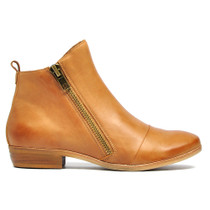 Oba Ankle Boots in Tan Leather