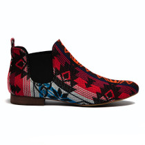 Glendale Ankle Boots in Black Tapestry
