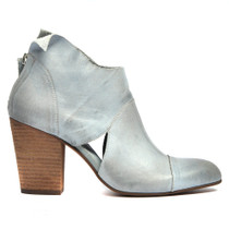 Hark Heeled Ankle Boots in Sage Leather