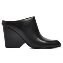 Dano Heeled Mule in Black Leather