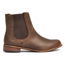 Jeza Ankle Boots Pull On in Chocolate Leather