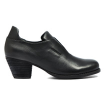 Lamana Heeled Ankle Bootie in Black Leather
