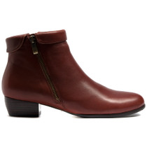 Twinzip Ankle Boots in Cognac Leather