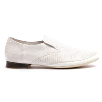 Nixer Slip On in White Leather