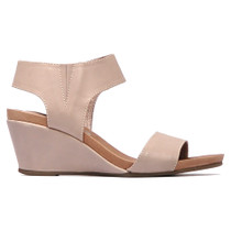 Upsend Heeled Wedge Sandal in Misty Leather
