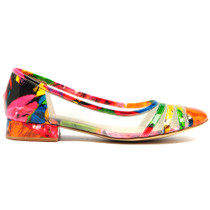 Birkin court in Bright Floral Patent