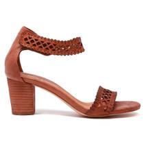 Cajun Heeled Sandal in Tan Leather