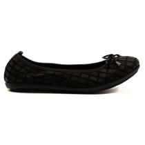 Darma Ballet Flat in Black Leather