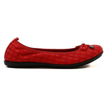Darma Ballet Flat in Red Leather