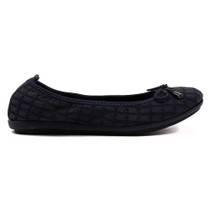 Darma Ballet Flat in Navy Leather