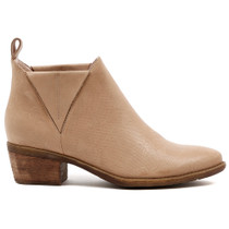 Snite Mid Heel Boot in Latte Leather