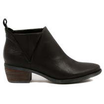 Snite Mid Heel Boot in Black Leather