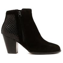 Carol High Heel Boot in Black Leather