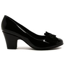 Soph Heel in Black Patent Leather