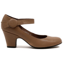 Swank Heel in Taupe Leather