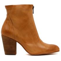 Hika Heeled Boot in Tan Leather