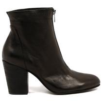 Hika Heeled Boot in Black Leather
