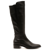 Tetley Knee High Boot in Black Leather