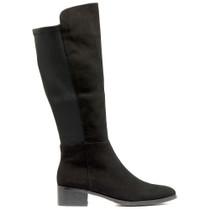 Tetley Knee High Boot in Black Suede