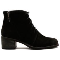 Upbeats Heeled Boot in Black Nubuck