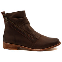 Julia Ankle Boot in Chocolate Leather