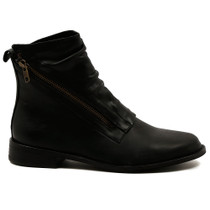Julia Ankle Boot in Black Leather