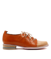 Cassis Lace Up Shoes in Tangerine Leather