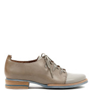 Cassis Lace Up Shoes in Grey Leather