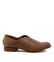 Figget Slip On Flats in Taupe Leather