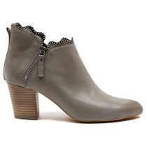 Darcie Heeled Ankle Boot in Grey Leather