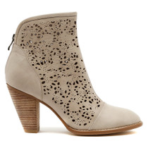 Vizzy Heeled Ankle Boot in Misty Leather