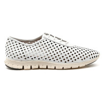 Rodney Lace Up Sneaker in White Leather