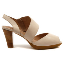 Walsh Heel in Nude Leather