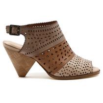 Ortay Peep Toe Heel in Beige Multi Leather