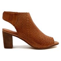 Danesey Peep Toe Heel  in Tan Leather