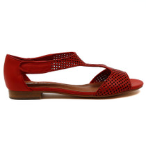 Paiges flat sandal in red