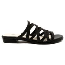 Omari Flat Sandal in Black