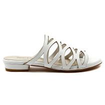 Omari Flat Sandal in White