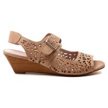 Marney Wedge Heel Sandal in Rose