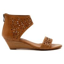 Marry Wedge Heel Sandal in Tan