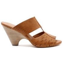 Bling Heeled Sandal in Tan