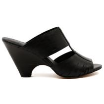 Bling Heeled Sandal in Black