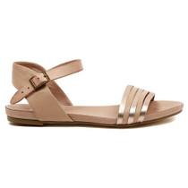 Jansz Flat Sandal in Rose Gold