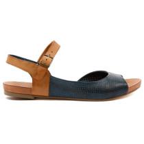 Jaggie Flat Sandal in Navy