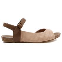 Jaggie Flat Sandal in Nude