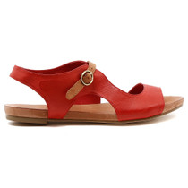Jacobi Flat Sandal in Red