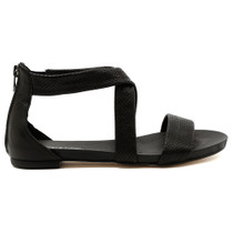 Jellin Flat Sandal in Black