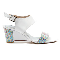 Diesel Heeled Sandal in White
