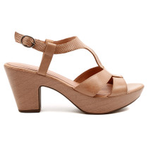 Wisdom Heeled Sandal in Dark Blush