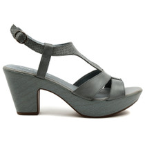 Wisdom Heeled Sandal in Denim